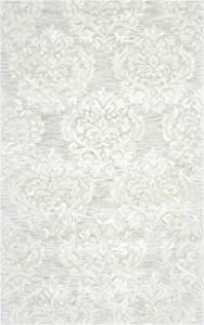 """Rizzy Home Marianna Fields Collection Wool Area Rug, 2'6"""" x 10', Beige/Ivory Ornamental"""