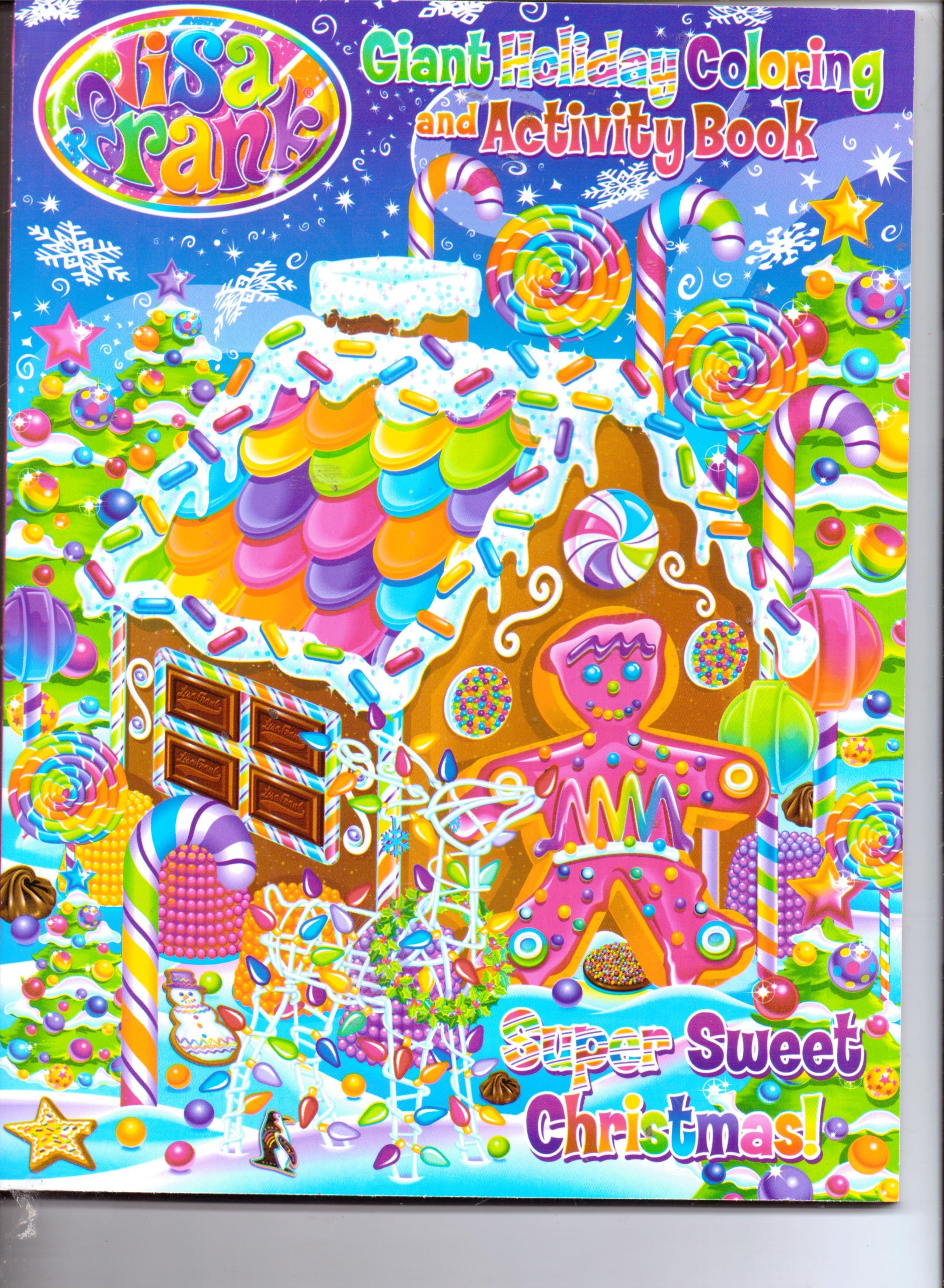 lisa frank giant holiday coloring activity book super sweet christmas lisa frank amazoncom books