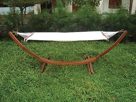 Luxurygarden amaca da giardino in legno autoportante misure
