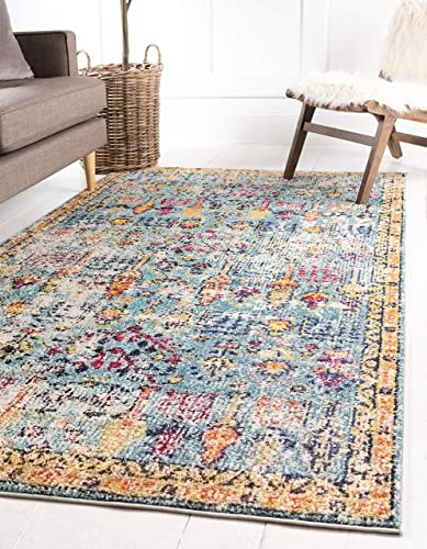 Deal of the week: Unique Loom Monterey Collection Vintage Bohemian Tribal Distressed Blue Area Rug 10' 6 x 16' 5
