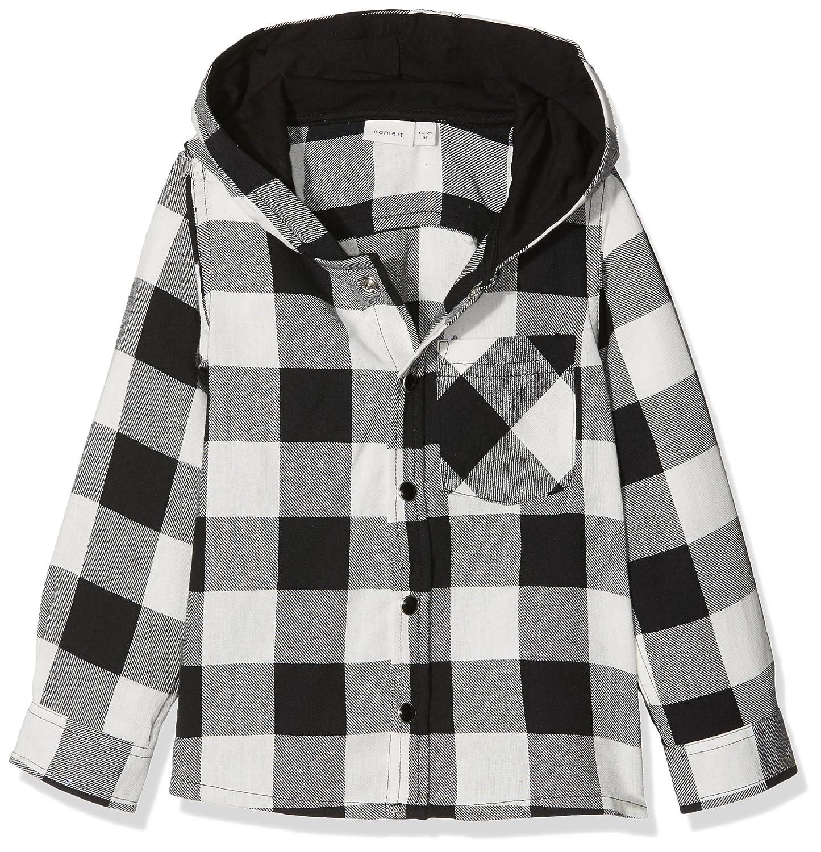 NAME IT Baby-Jungen Hemd Nmmgilias Ls Shirt W Hood 13148379