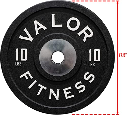 Valor Fitness BPPU Poly Urethane Bumper Plates for Cross Training, Olympic Weight Lifting, and Power Lifting – Color Coded, Multiple Weight Plates Options Available