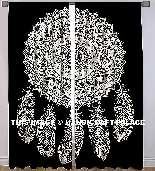 Indian Handmade Cotton Dream Catcher Twin Size Window Curtians Ethnic Home Decor