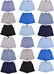 Andrew Scott Boys 18 Pack Cotton Boxer Shorts