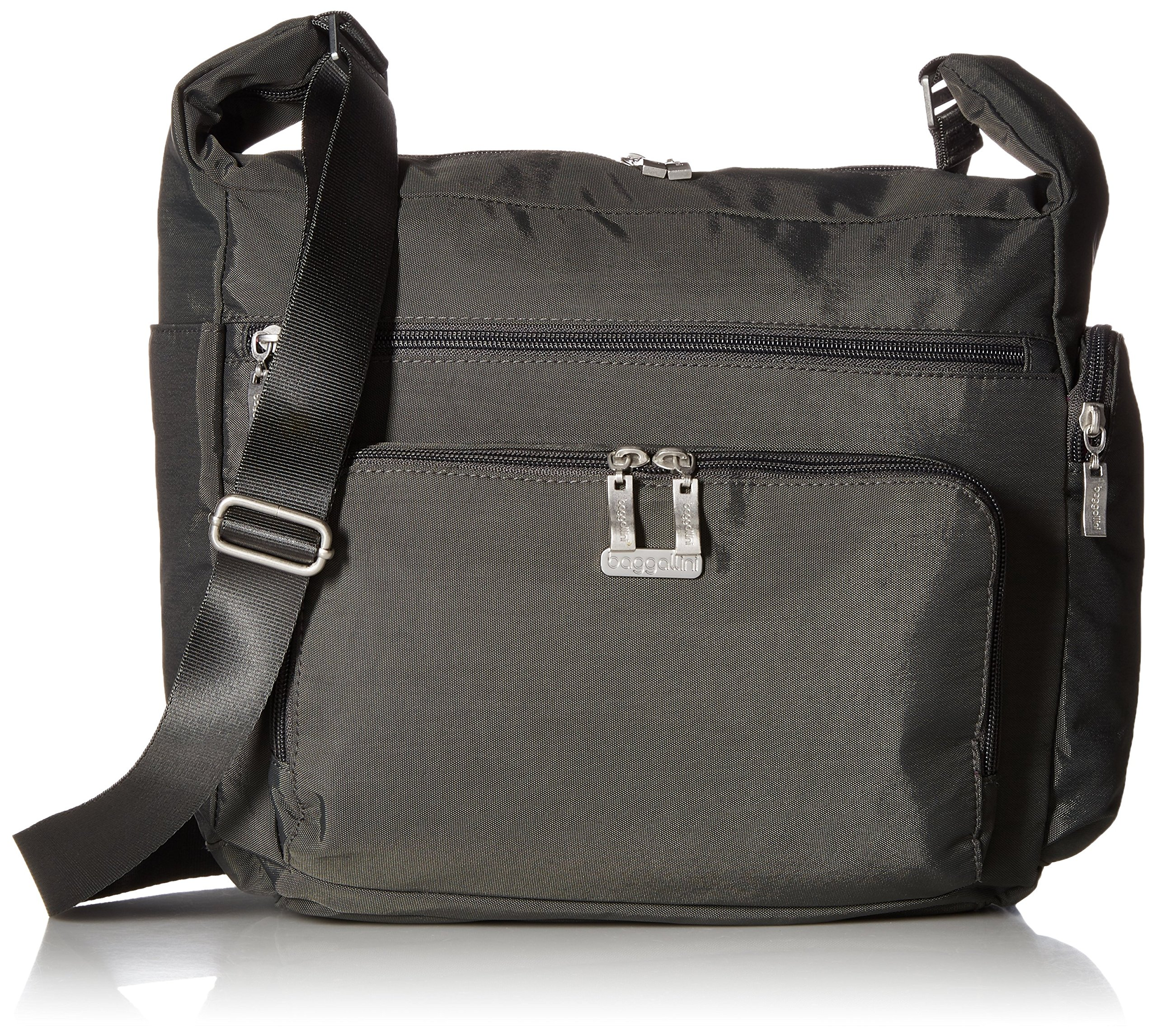 Baggallini Travel Hobo with Rfid Wristlet, Charcoal