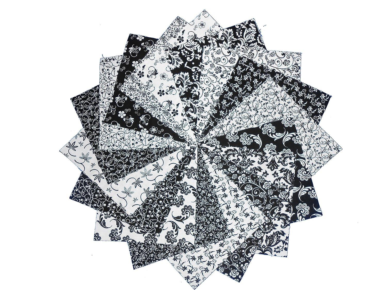 Amazon com 34 5 beautiful black and white charm pack