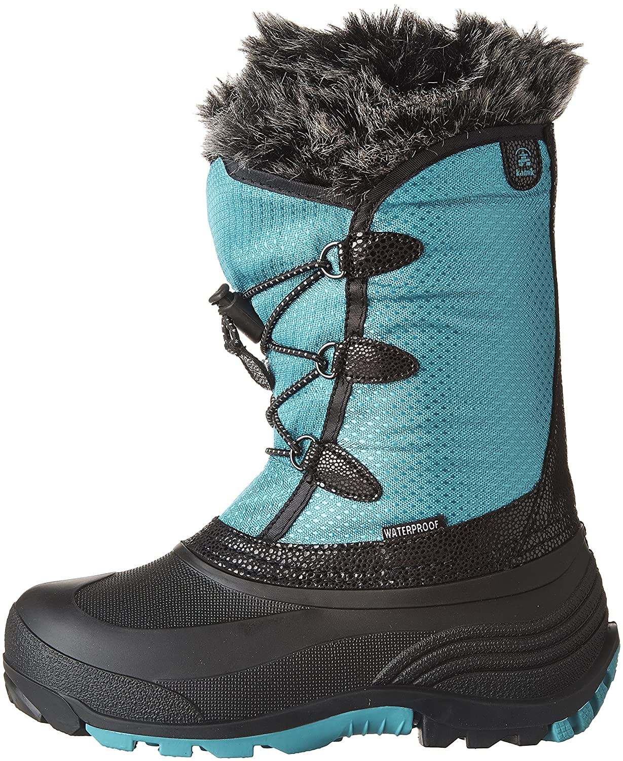 Kamik Kids' Powdery Waterproof Winter Boot, Teal, 12 M US Little Kid NK8746
