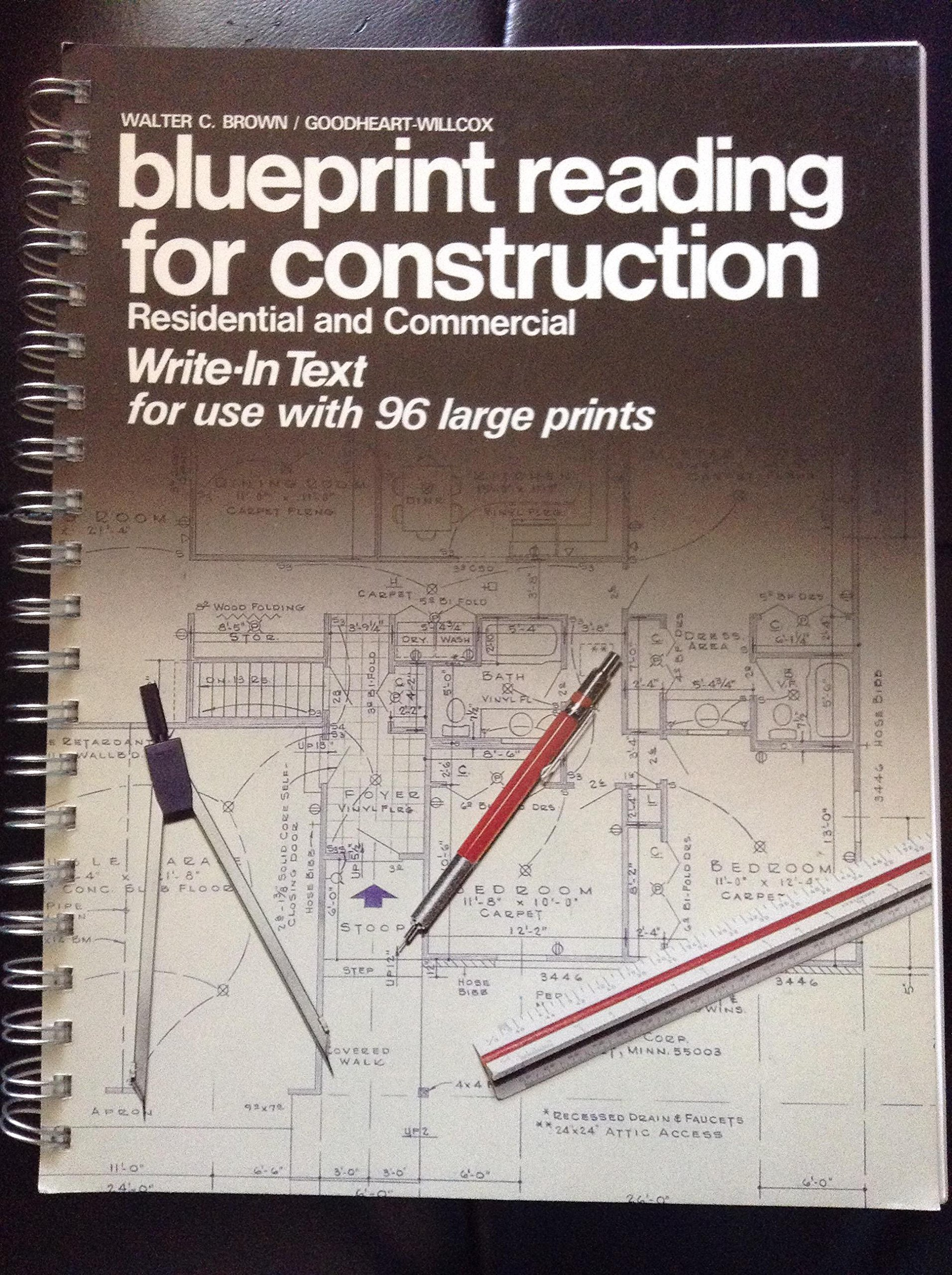 Buy blueprint reading for construction residential and commercial buy blueprint reading for construction residential and commercial write in text book online at low prices in india blueprint reading for construction malvernweather Images