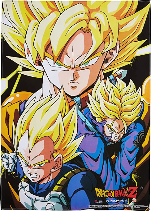 Amazon Com Great Eastern Dragon Ball Z Crew Fabric Poster Toys Games