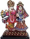 Paras Magic Iskon Radha Krishna Small Marble Statue, Multicolour