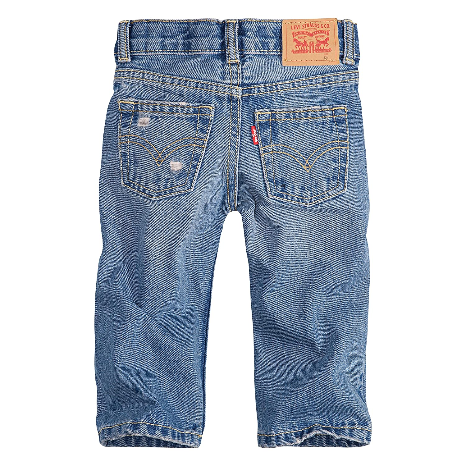Amazon.com  Levi s Boys  Regular Fit Distressed Jeans, Blue Asphalt, 12M   Clothing 2b846ff81b3a
