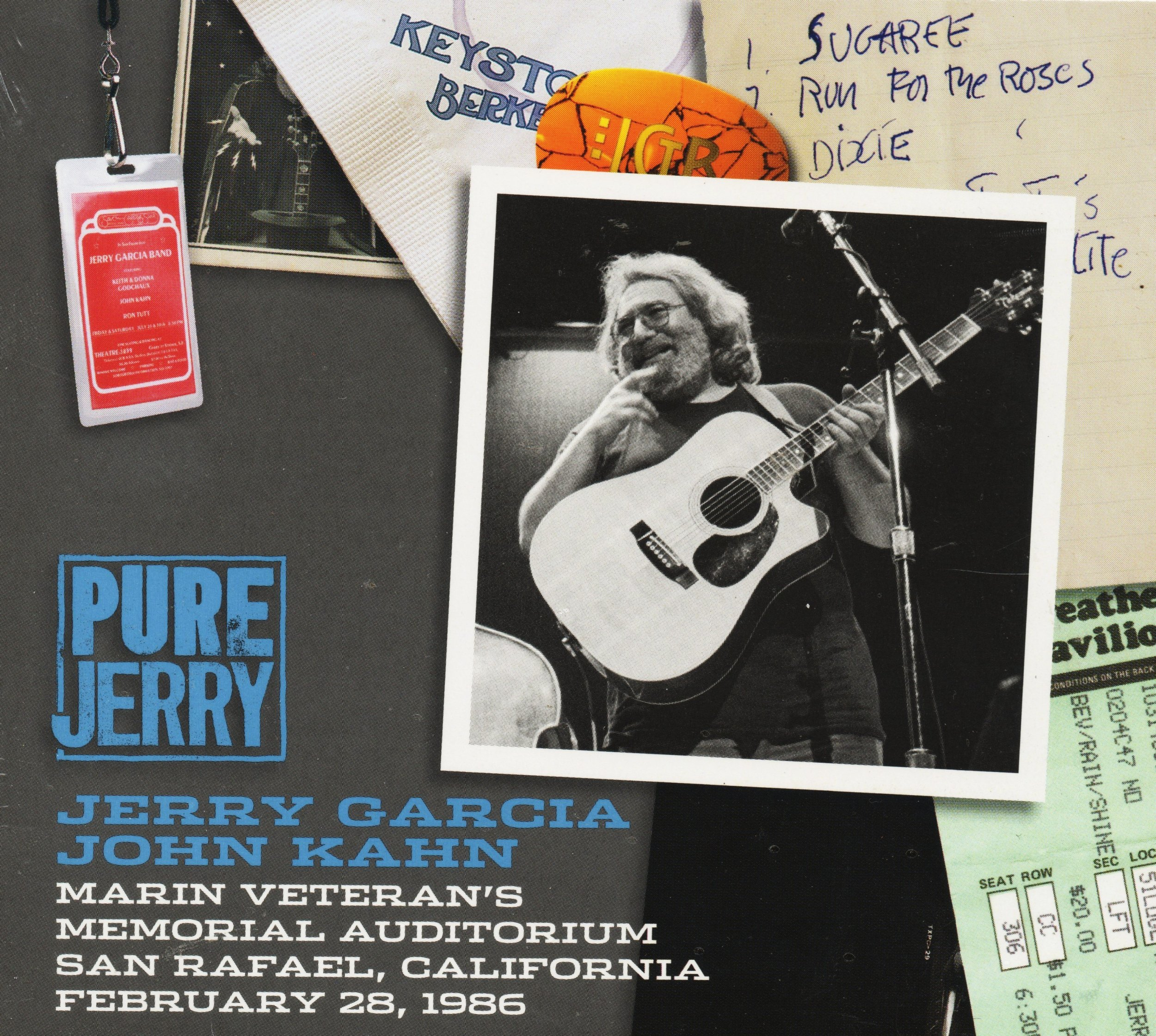 Pure Jerry: Marin Veteran's Auditorium, San Rafael, California - February 28, 1986 by Jerry Garcia Family