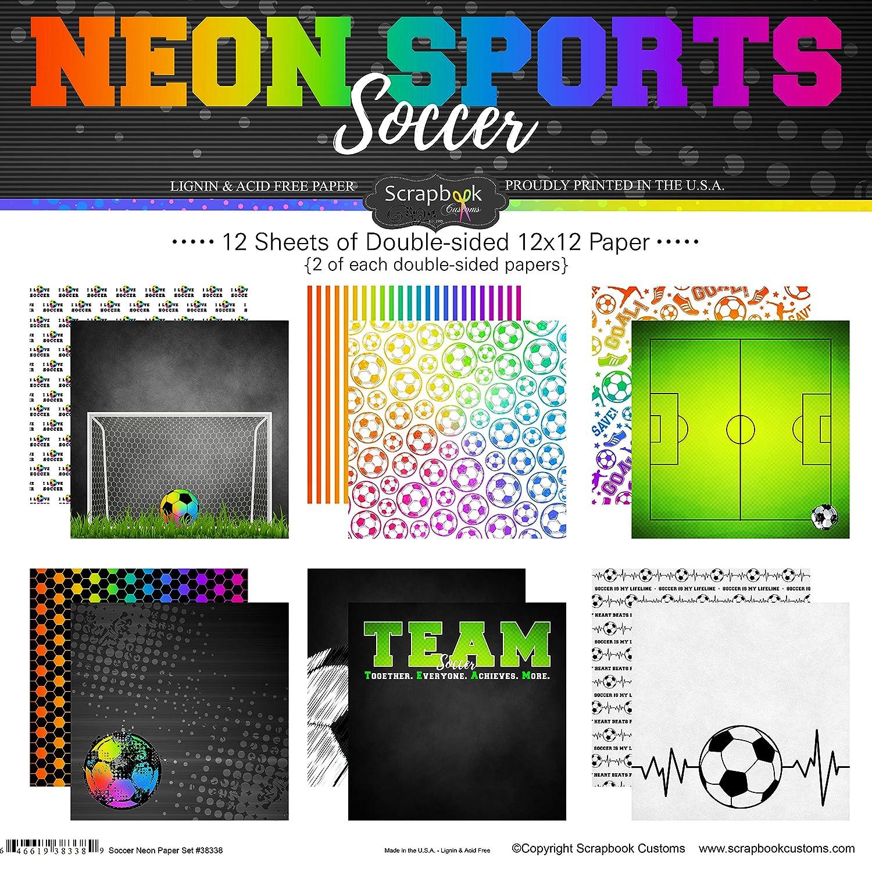 Scrapbook Customs Soccer Neon Scrapbook Kit