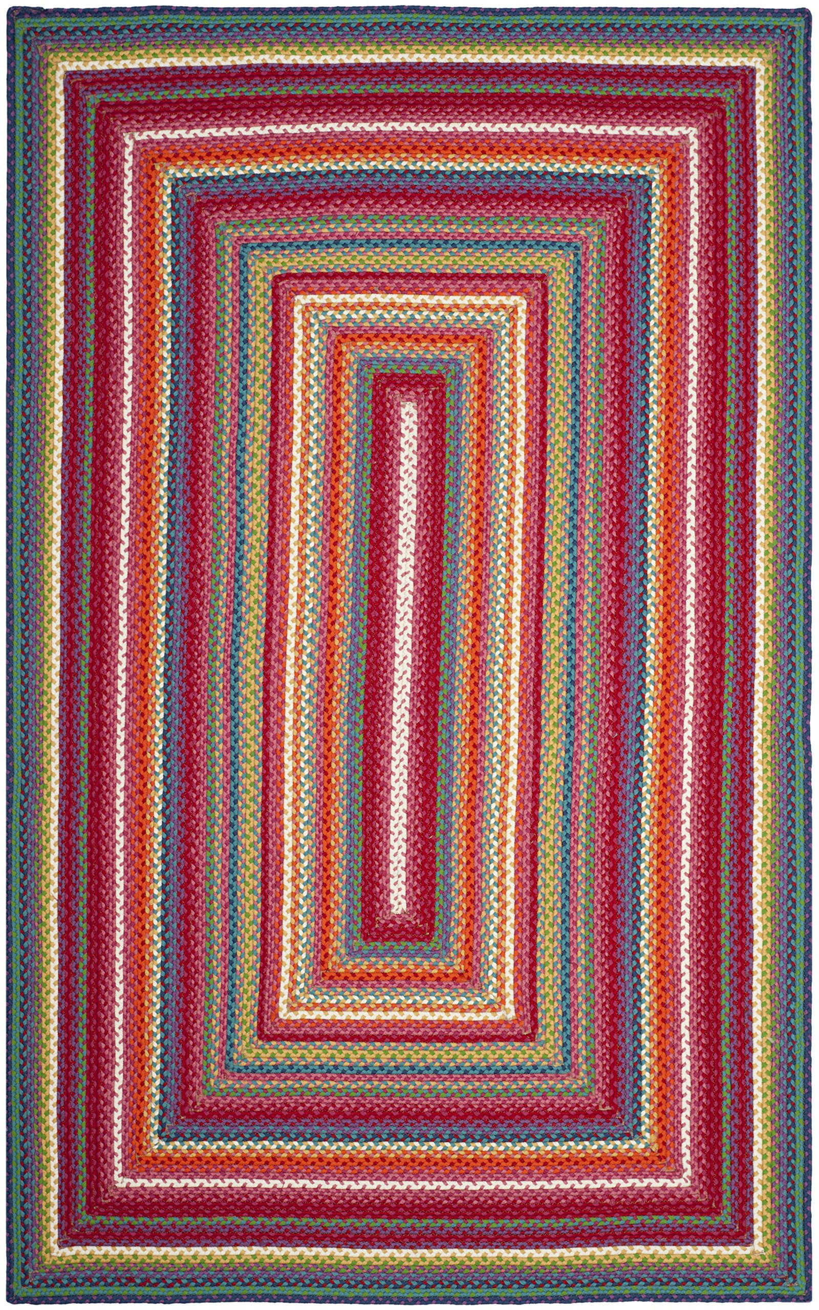 Safavieh Braided Collection BRD316A Handwoven Multicolored Area Rug (5' x 8')