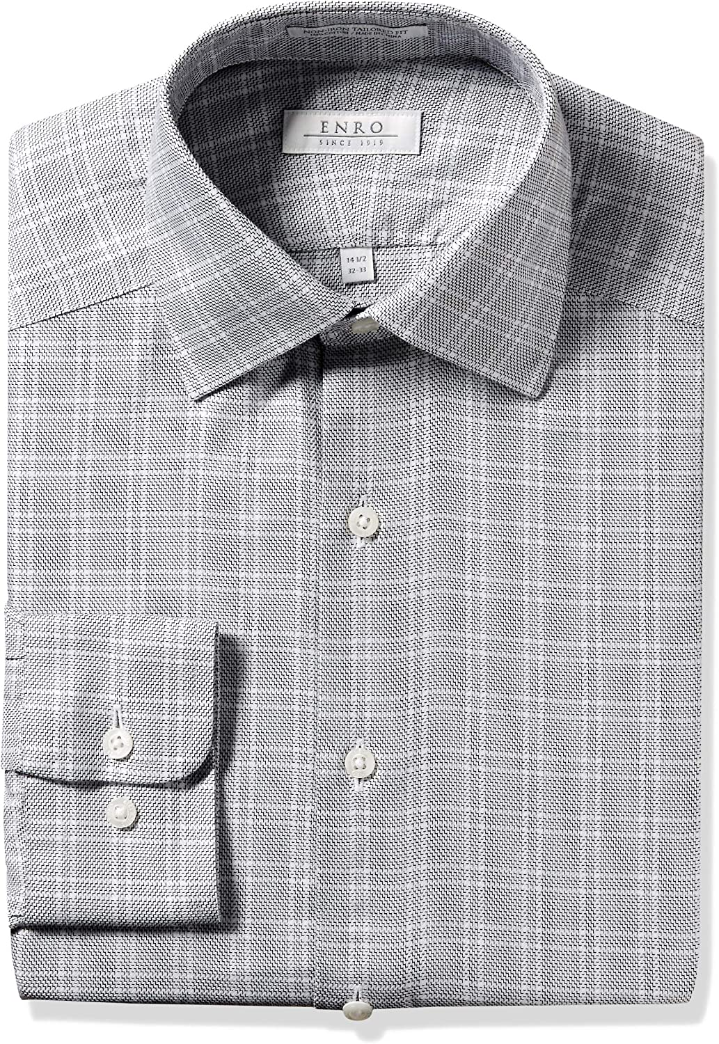Now on sale Enro Men's Cartwright Check Attention brand Non-Iron Dress Fit Tailored Shirt