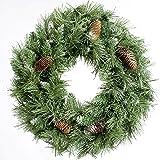 WeRChristmas - Ghirlanda natalizia decorativa, abete scandinavo con pigne, 50 cm