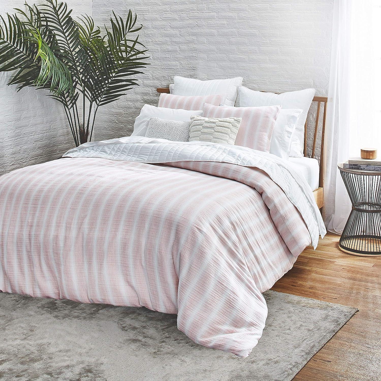 Splendid Home Capitola 3-Piece Cotton Duvet Cover & Sham Set, 110ʺW x 96ʺL, King, Blush, Pink