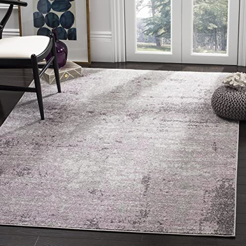 Safavieh Adirondack Collection ADR130M Light Grey and Purple Modern Abstract Vintage Area Rug 5'1″ x 7'6″