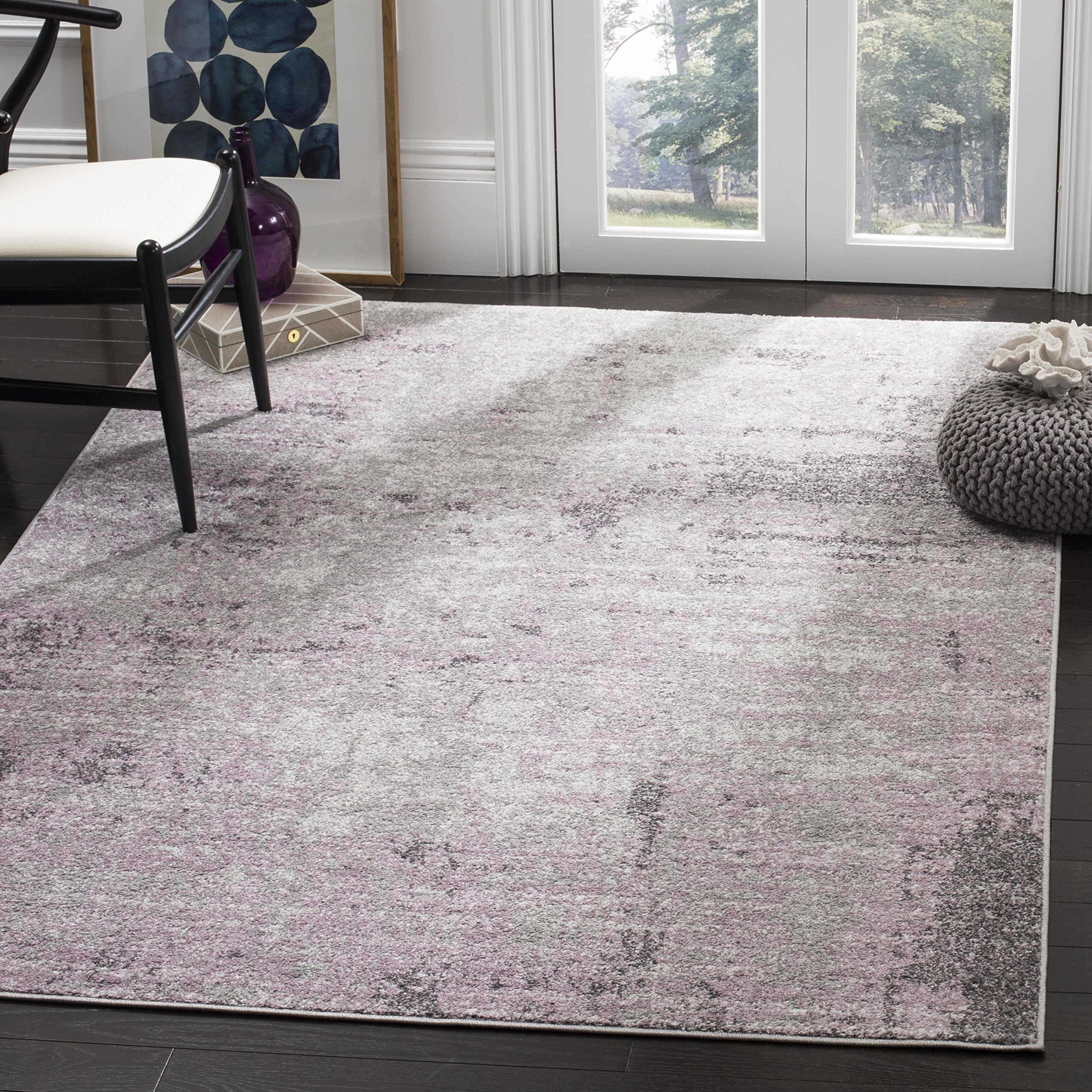Safavieh Adirondack Collection ADR130M Light Grey and Purple Modern Abstract Vintage Area Rug (8' x 10') by Safavieh