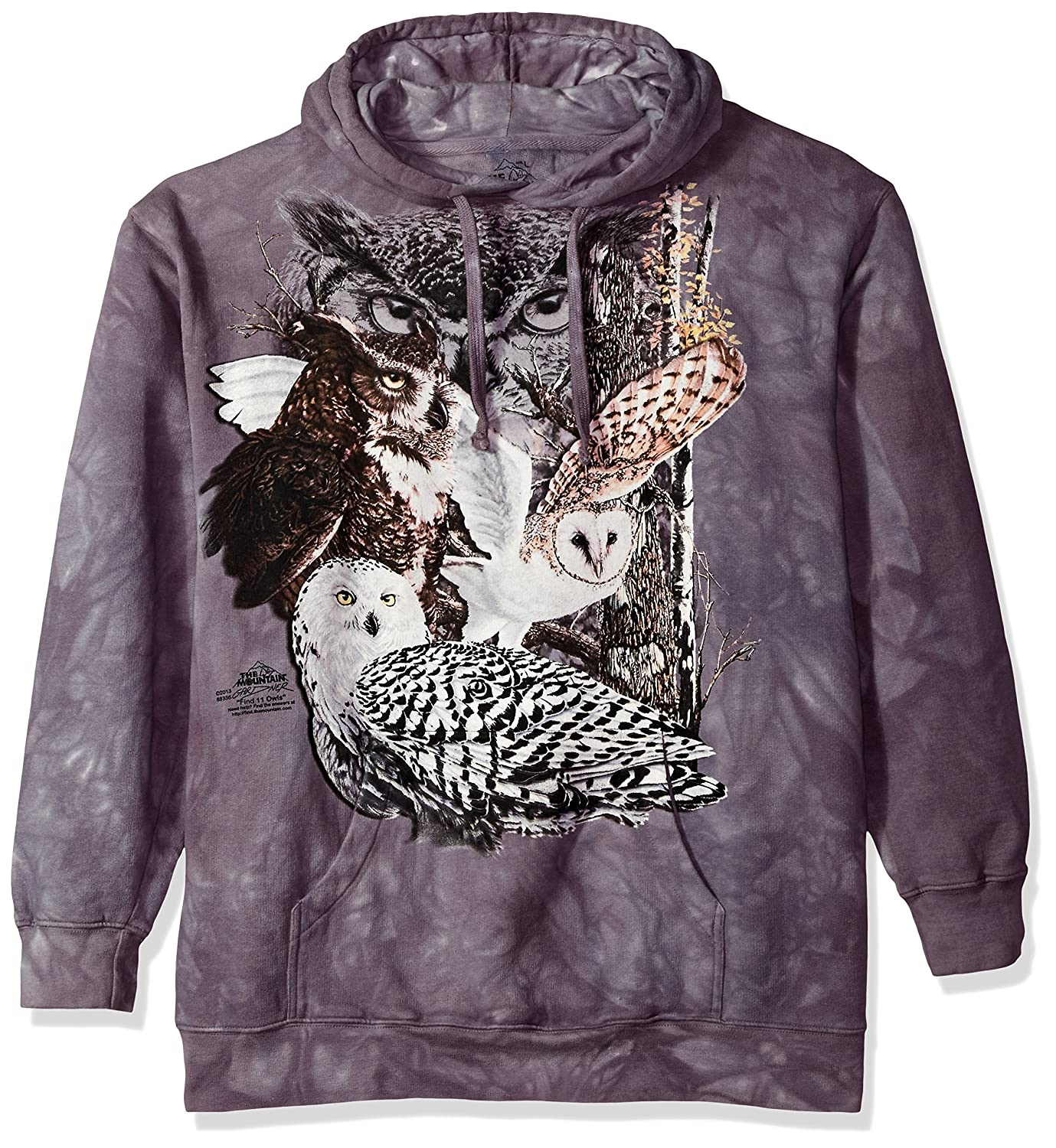 9f085aae5f79 Amazon.com  The Mountain Find 11 Owls Hooded Sweatshirt  Clothing