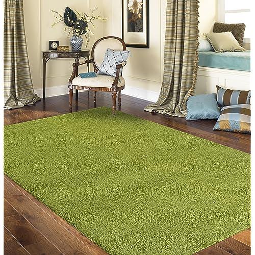 U Rugshop Soft Cozy Solid Indoor Shag Area Rug 5u00273