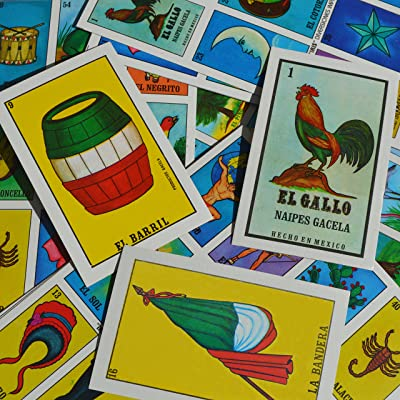 Naipes Gacela Loteria Mexicana Family Set of 20 Boards and Cards: Toys & Games