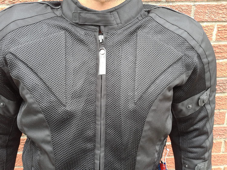 Chicane Summer Mesh Armoured Waterproof Motorcycle Jacket XL 42 Black