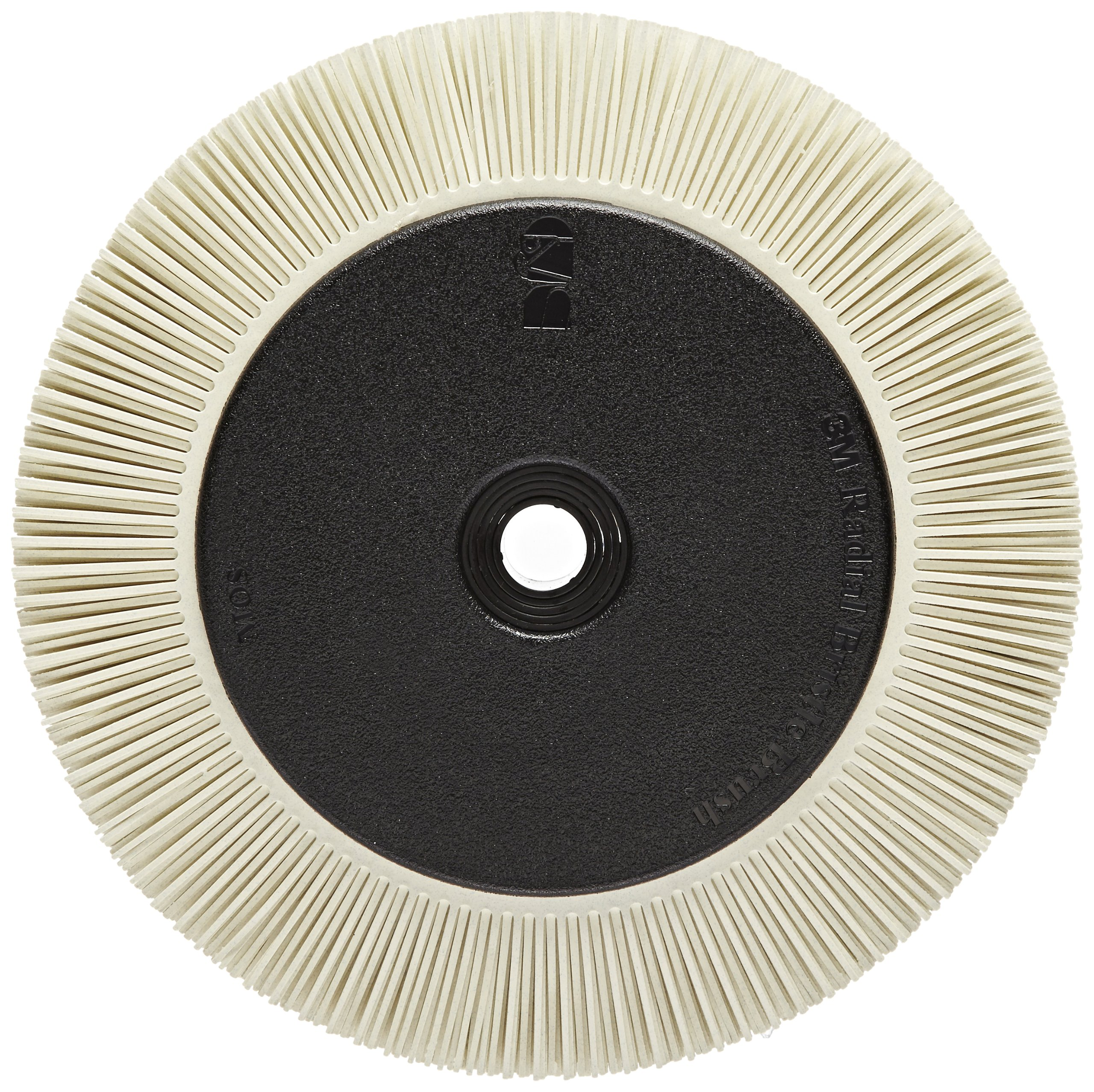 Scotch-Brite(TM) Radial Bristle Brush, Aluminum Oxide, 6000 rpm, 8 Diameter x 1 Width, 120 Grit, White (Pack of 1)