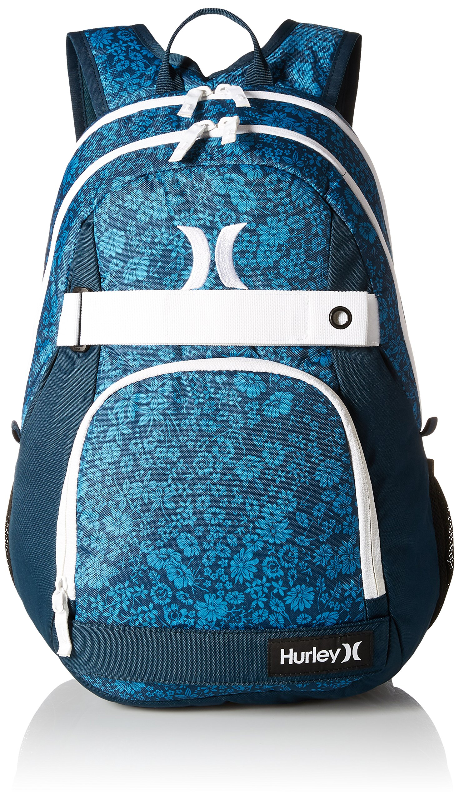 Hurley Men's Honor Roll Printed Backpack, Photo Blue/Midnight Teal/White, One Size