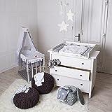 ¡Nuevo, bordes redondeados! Cambiador para bebé superior para cómoda Hemnes de IKEA