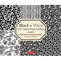 Black & White Gift Wrapping Papers 6 sheets: High-Quality 24 x 18 inch (61 x 45 cm) Wrapping Paper