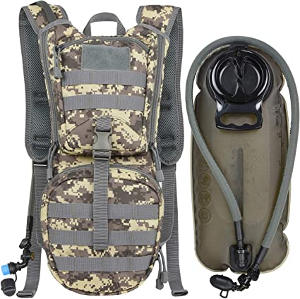 Tactical Hiking Pack Rucksack Cycling Hydration Backpack with 3L Water Bladder