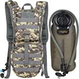 MARCHWAY Tactical Molle Hydration Pack Backpack with 3L TPU Water Bladder, Military Daypack for Cycling, Hiking, Running…
