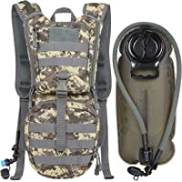MARCHWAY Tactical Molle Hydration Pack Backpack with 3L TPU Water Bladder, Military Daypack for Cycling, Hiking, Running, Climbing, Hunting, Biking