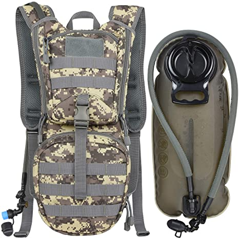 Sports & Entertainment 2.5l Water Bag Bladder Hydration Backpack Outdoor Camping Molle Military Tactical Knapsack Cycling Hiking Climbing