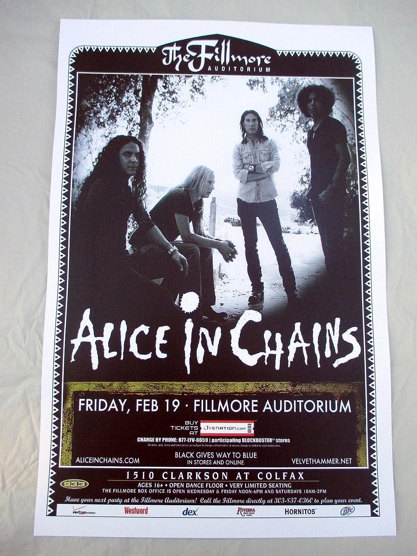 2010 Alice In Chains Denver Concert Poster