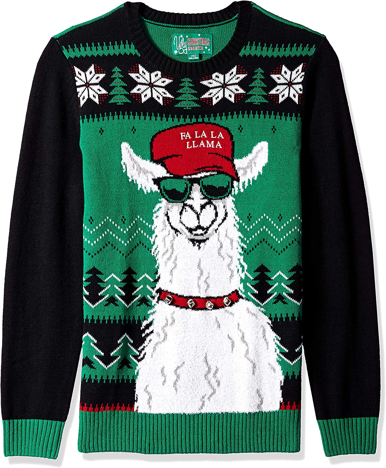 Ugly Christmas Sweater Company Mens Ugly Christmas Sweater Xmas Llama Pullover Sweater