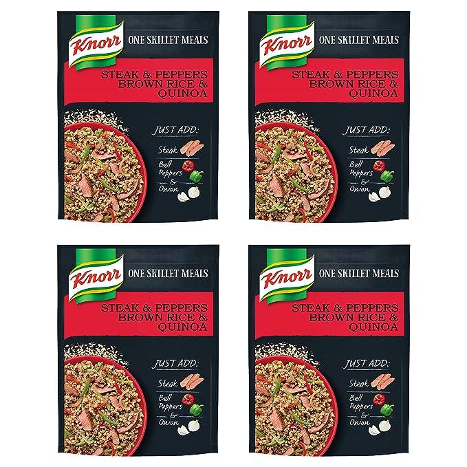 Amazon Com Knorr One Skillet Meals Meal Starter Steak And