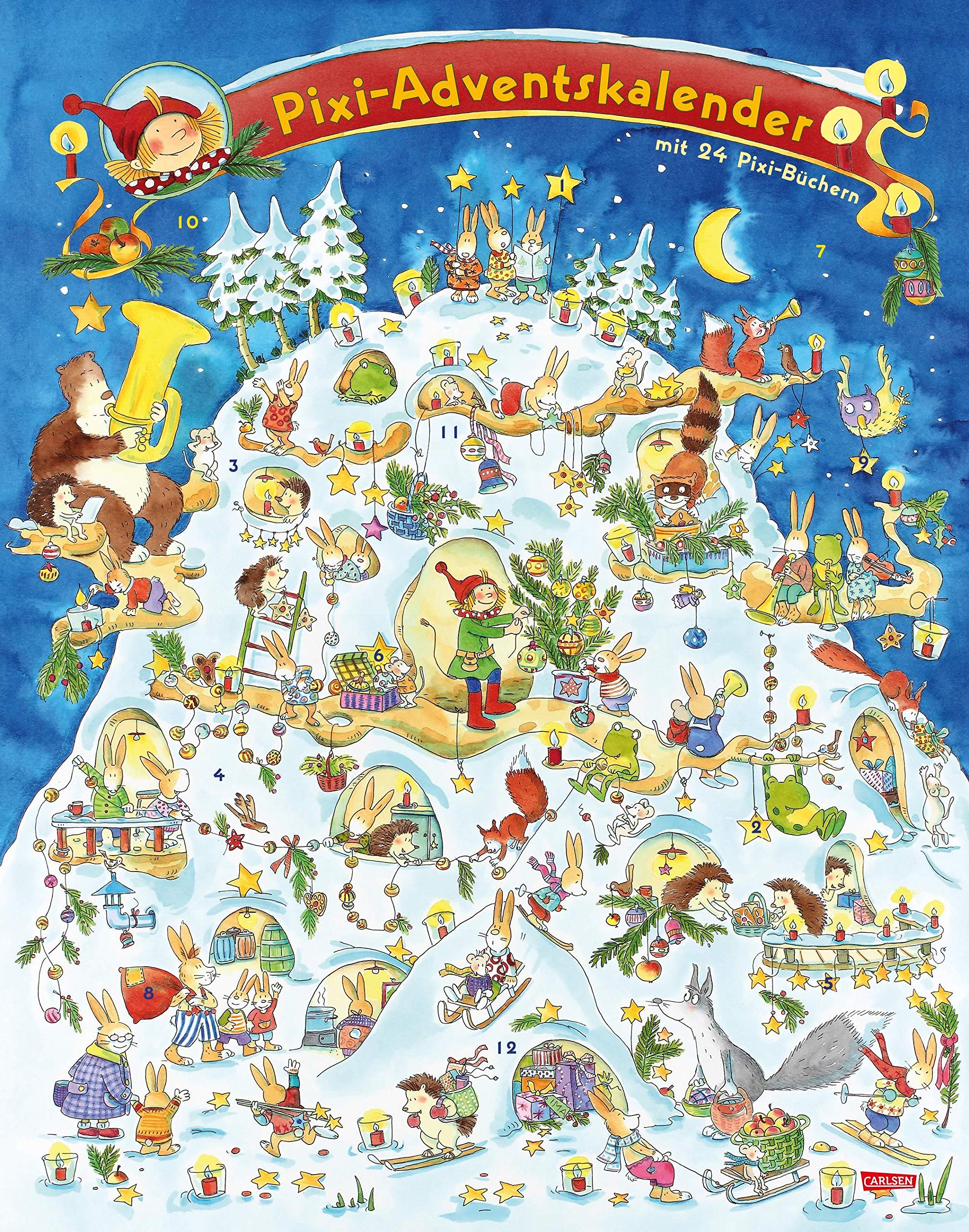 Pixi Adventskalender 2017: mit 24 Pixi-Büchern Kalender – 28. Juli 2017 diverse Carlsen 3551041598 JUVENILE FICTION / General