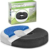 AnboCare Donut Cushion - Premium Cool Gel Memory Foam - Orthopedic Medical Ring Pillow for Hemorrhoid - Tailbone Coccyx Back Pain Pregnancy Prostate Surgery Bed Sores - Office Chair Car Seat - Black