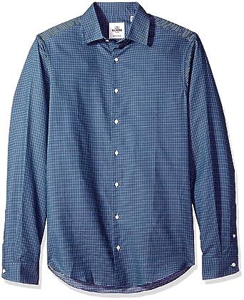 c96cf7a0529 Amazon.com  Ben Sherman Teal Herringbone Check Men s Slim Fit Dress ...