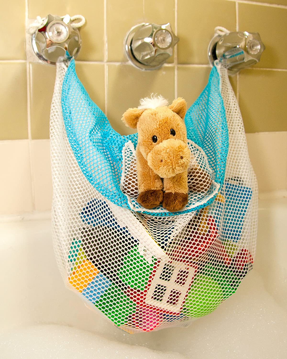 Amazon.com: Bath Toy Organizer & Bathtub Toy Bag - The Soapy ...