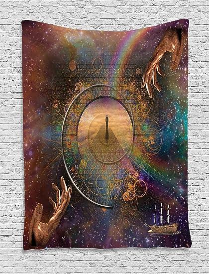 amazon com ambesonne magic home decor tapestry double exposure