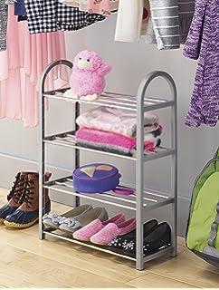 Merveilleux Whitmor Compact Closet Shelves, Plastic, Gray