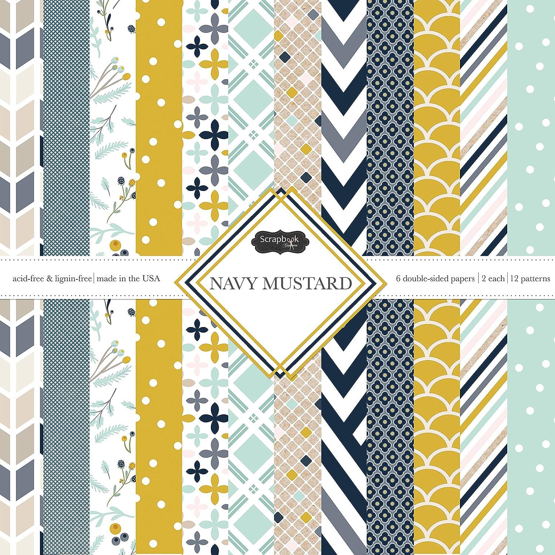 Scrapbook Customs Themed Paper Scrapbook Kit, Navy Mustard Inc. 37495