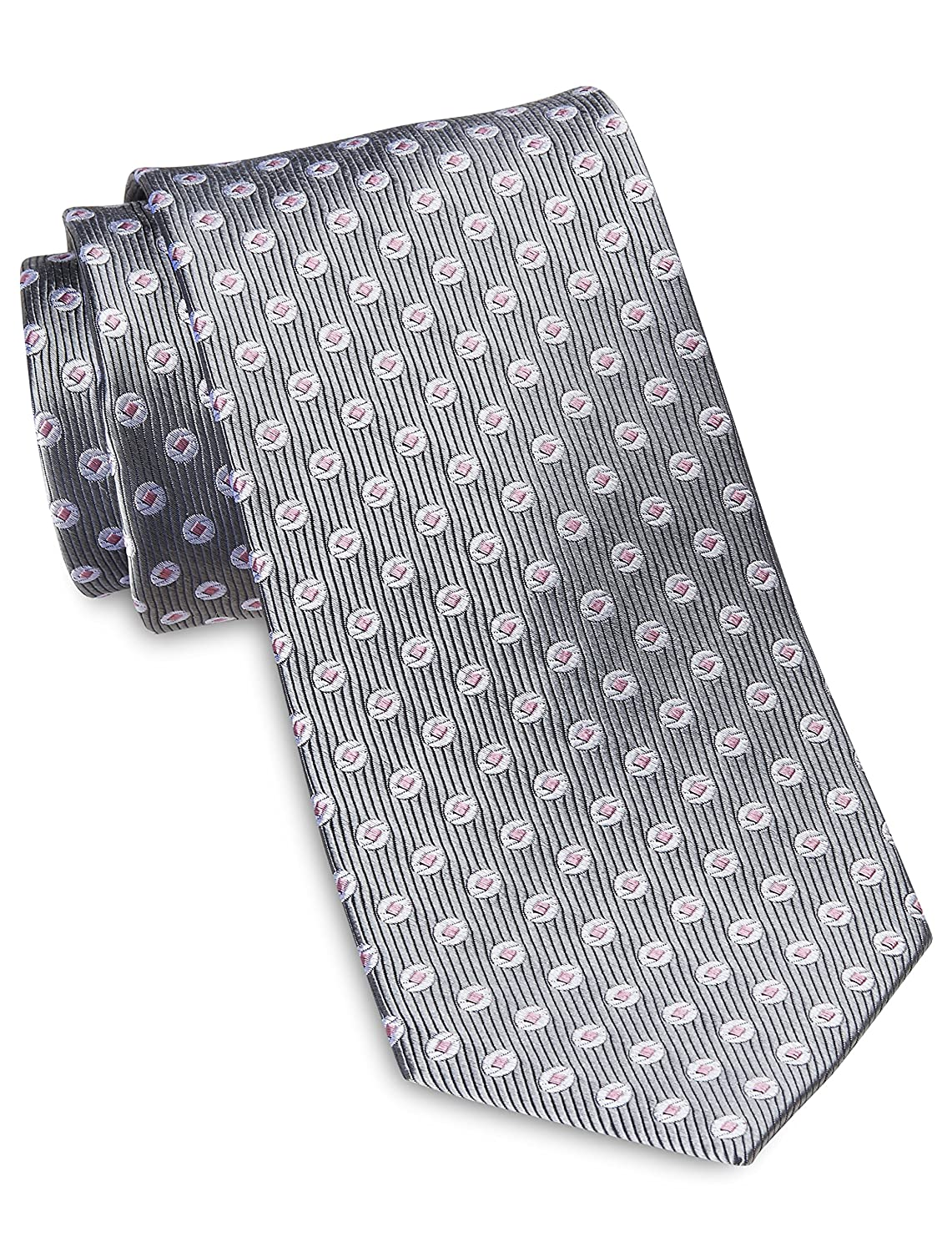 Rochester by DXL Designed in Italy Small Geo Dot Silk Tie