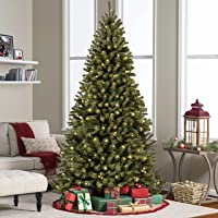 Best Choice Products Pre-Lit Premium Spruce Hinged Artificial Christmas Tree w/UL Certified Lights, Stand