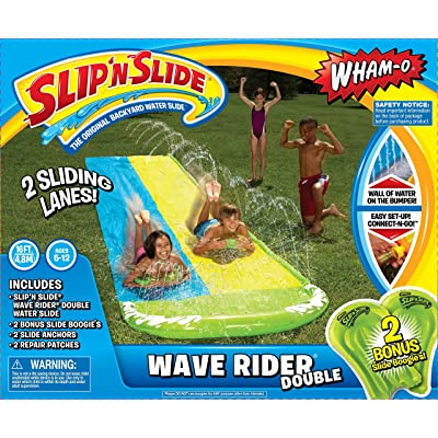 Wham-O Slip N Slide Wave Rider Double with 2 Slide Boogies: Toys & Games
