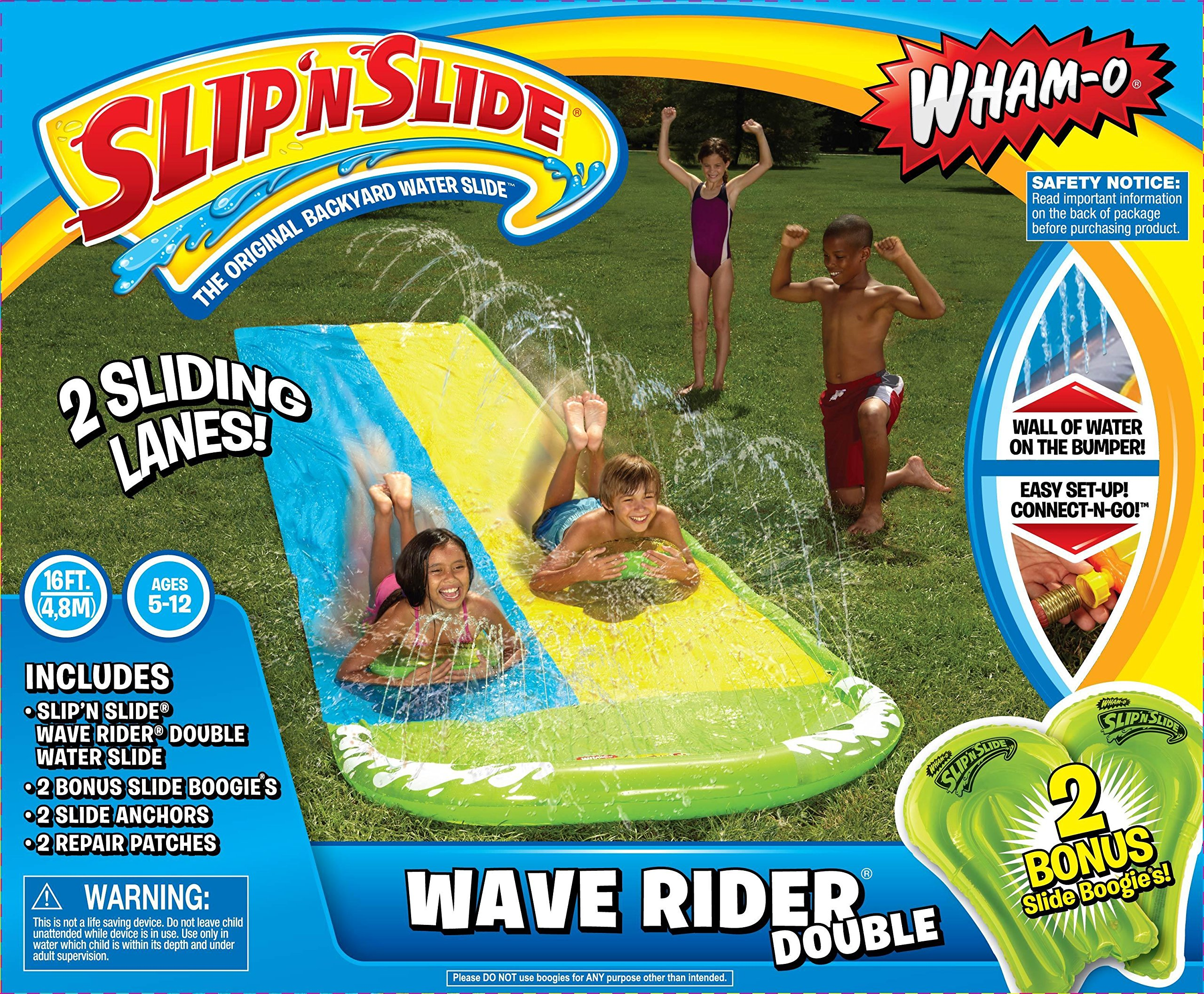 Wham-O Slip N Slide Wave Rider Double with 2 Slide Boogies by Wham-O