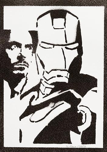 Audacieux Poster Iron Man Affiche The Avengers Handmade Graffiti Street Art YV-57